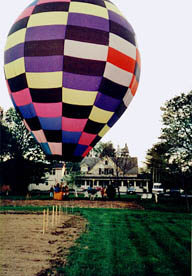 Balloon landing in our field