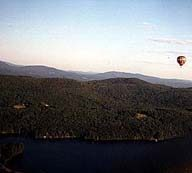 Balloon over Lake Morey