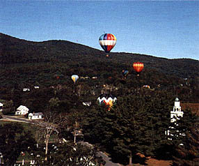 Balloon over Post Mills