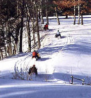Ride to nearby VAST snowmobile trails